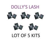 Dolly's Lash - 5 Kits Eyelash Perm Kit Brighten and Lift Eyelashes Lot Of 5