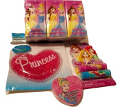 Disney Princess Lip Gloss; Washcloth; Pocket Tissues; Princess Cold Pack; 4-pc
