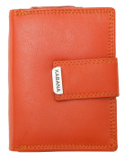 Women's Orange Genuine Leather Wallet Kabana Vertical