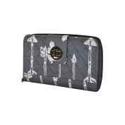 Grey Arrow Print NGIL Quilted Twist Lock Wallet