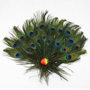 Herebuy8 40pcs Real Natural Peacock Tail Eyes Feathers Perfect for Wedding Party Arts And Crafts Home Decorations DIY