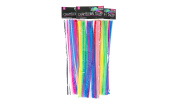 Chameleon Tails Pipe Cleaners/Chenille Stems 12 Inch x 6mm 100-Piece, Assorted Colours