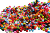 Craft Pompoms for Craft Making,Hobby Supplies and DIY Creative Crafts Decorations,1cm ,2000 Pieces,Assorted Colours