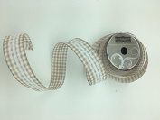 Celebrate IT- Ribbon Lattice wired ribbon with lace (camal) 3.8cm x 5.5m