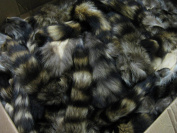Large Tanned Real Raccoon Tail Coon Fur Crafts #1 Grade