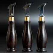 WUTA Leather Edge Creaser Stainless Steel Edge Marking Black Wood Handle Craft Tools