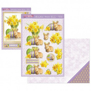 Hunkydory Crafts The First Signs of Spring Easter Bunny Deco-Large Card Kit FSSPRING904