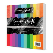 Hunkydory Crafts Perfect Background Stamping Pad Beautifully Bright 8x8 Paper Pad