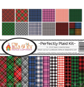 Ella & Viv by Reminisce EAV-928 Ella & Viv Perfectly Plaid Scrapbook Collection Kit Ella & Viv Perfectly Plaid Scrapbook Kit