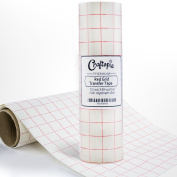 Transfer Tape Paper Roll - High Tack Vinyl Transfer Paper - Perfectly Align Your Projects - Pre-Printed Alignment Grid - Craftopia Application Tape Keeps Your Craft Vinyl Designs Looking As Intended