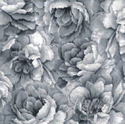Hoffman 'Belleflower' Grey Tonal Blooms Cotton Fabric