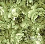 Hoffman 'Belleflower' Chartreuse Tonal Blooms Cotton Fabric