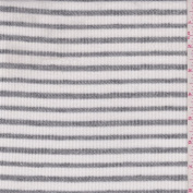 White/Heather Grey Stripe Sweater Knit, Fabric Sold By the Yard