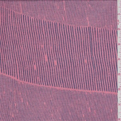 Pink/Navy Stripe Rayon Jersey Knit, Fabric Sold By the Yard