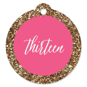 Chic 13th Birthday - Pink and Gold - Birthday Party Favir Gift Tags