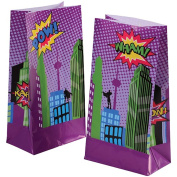 Super Hero Comic Book Theme Paper Party Loot Goody Bags