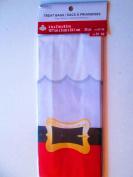 10cm . x 5.1cm . x 24cm Santa belt Cellophane treat bags with twist ties 25 per pkg