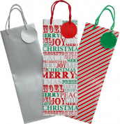 Christmas Shop Bottle Gift Bags (3 Pack) Contemp.
