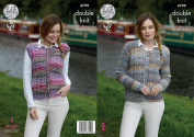 King Cole Ladies Double Knitting Pattern Cabled Cardigan & Waistcoat Drifter DK