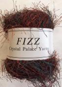 Crystal Palace Fizz #9403 Walnut - Copper, Brown, Maroon, Teal Eyelash Yarn