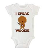 """Cute Kids Movie Onesie """" I Speak Wookie """" Funny Royaltee Kids Clothes"""