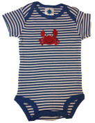 Crab Striped College Newborn Infant Baby Creeper