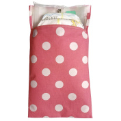 Tiny Tote Along Nappy Bag - Rich Pink Polka Dot Print