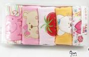 Me Love Baby neutral pants children100% cotton trousers 5 pieces/lot cartoon baby girl/boy elastic waist