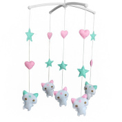 Handmade Musical Dreams Mobile [Lovely Kitties] Rotate Crib Mobile