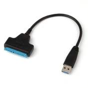 Tuscom Super Speed USB 3.0 To SATA 22 Pin 2.5 Inch Hard Disc Driver SSD Adapter Cable Converter