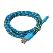 For Cell Phone, Mchoice 3M/10FT Hemp Rope Micro USB Charger Sync Data Cable Cord for Cell Phone