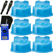 Braun Clean & Renew Refill Cartridges, Replacement Cleaner, Cleaning Solution (6 pack) for Series 3, Series 5, Series 7 & Series 9 + Double Ended Shaver Brush + HeroFiber Ultra Gentle Cleaning Cloth