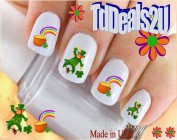 Holiday St. Patricks Day - Leprechauns Pot of Gold - WaterSlide Nail Art Decals - Highest Quality! Made in USA