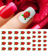 Red Rose Water Slide Nail Art Decals - Great for Valentine's Day!
