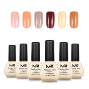 MelodySusie Gel Nail Polish Set, Timeless Muse 1 Step Nail Gel Kit, Six Colours, Long Lasting, No Base and Top Coat Needed, Quick Curing with LED or UV Nail Dryer, Easy Soak Off