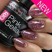 Pink Gellac UV gel nail polish 206 Bedazzled Purple. Professional Nail Polish For Atleast 14 Days! Perfect Shine