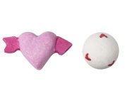 Lush Cupid Bath Bomb 80ml and Lover Lamp Bath Bomb 200ml Bundle Set Valentines Day Limited Edition