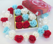 Rose Bath Bomb, Nine Colourful Charing Rose Flowers in a Rose gift box. 13