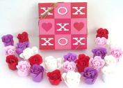 Valentine Rose Bath Bomb, Nine Colourful Charing Rose Flowers in a xoxo gift box. 16