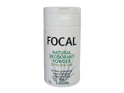 Focal Natural Deodorant Powder : Travel Size 50ml (50g) : Fragrance Free : 24 hours protection