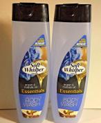 2pck -Soft Whisper by Powerstick Argan & Marula Oil 470ml Body Wash