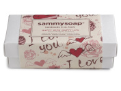 sammysoap All Natural Gift Box Includes 1 Each Almond Oat, Tangerine Geranium, Lavender Patchouli, Happy Wife Happy Life