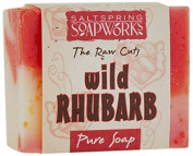 Saltspring Soapworks All Natural Raw Cut Hand Soap Bar, Wild Rhubarb, 120ml