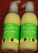 Avojuice Coconut Melon Hand & Body Lotion 200mL - 6.6 fl. oz x 2 piece