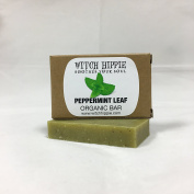 PEPPERMINT LEAF 30ml ORGANIC SOAP BAR BY WITCH HIPPIE