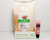 "TruBeauty Coconut Facial Cleansing Wipes Normal to Dry Kin 60 Wipes ""Free Starry Lip 10 ML"""