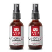 Wrinkles remover - VITAMIN C SERUM PREMIUM COMPLEX With Hyaluronic Acid (20% Potency) - Vitamin a serum - 2 Bottles