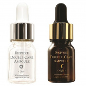Deoproce, Double Care Ampoule Day Night Set, Day Serum, Vitamin E, Night Serum, Collagen Nourishment, 13g X 20 ea