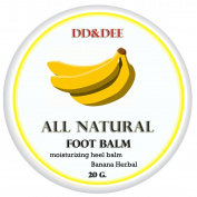 Banana Herbal Balm Foot Polishing Cream for Callused, Cracked Feet, Dry Feet, Heels & Hands, 100% Natural 20 G.