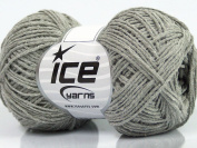 Lot of 8 Skeins Ice Yarns HERMOSO COTTON (60% Cotton) Hand Knitting Yarn Grey